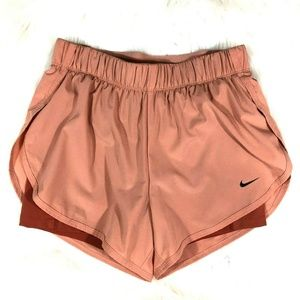 Nike 2-in-1 Dri-Fit Running Shorts Salmon Rust